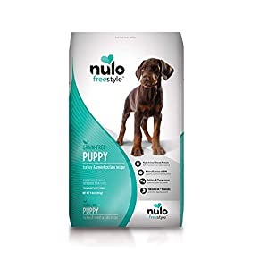 Nulo Puppy Food Grain Free Dry Food With Bc30 Probiotic And Dha (Turkey And Sweet Potato Recipe, 11Lb Bag), Adult Turkey and Sweet Potato