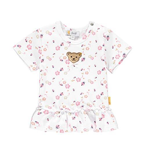 Steiff Baby-Mädchen T-Shirt, Bright White, 086