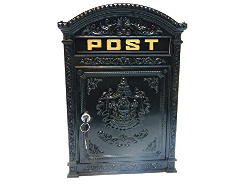 Cast Metal Post Box/Mail Box Wall Mounted Traditional Style - Vintage Green