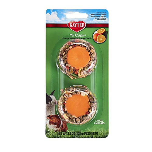 Kaytee Yogurt Cup Small Animal Treat,Tangerine Orange, 3.8 Oz.