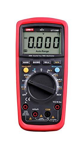 UNI-T MIE0155/UT139B MIE0155/ UT139B Spannungsprüfer, AC/DC Strom, Widerstand-und Relativmessung, Durchgangs-und Diodentest, NCV, True RMS, V.F.C