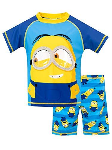 Despicable Me Costume da Bagno per Ragazzi a Due Pezzi Minions Multicolore 4-5 Anni
