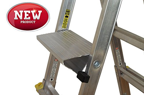 Multi-Function Adjustable Work Platform Ladder Accessory Supports 375 lbs Compact Heavy Duty Lightweight Saves You Time and Reduces Fatigue All Made in Canada