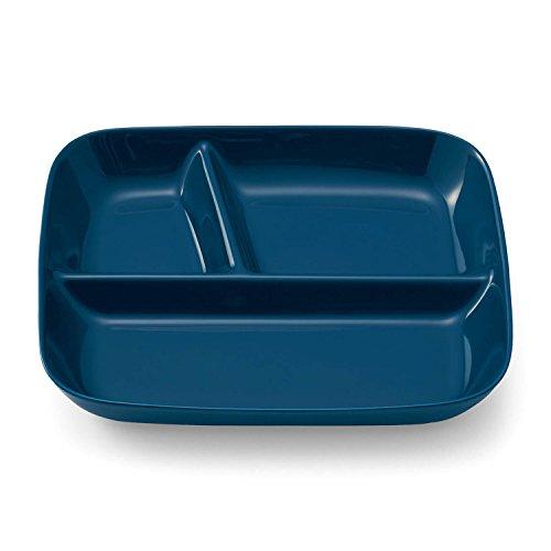 [ベルメゾン] ランチプレート 深め すくいやすい 仕切り皿 美濃焼 食洗機対応 日本製 ネイビー