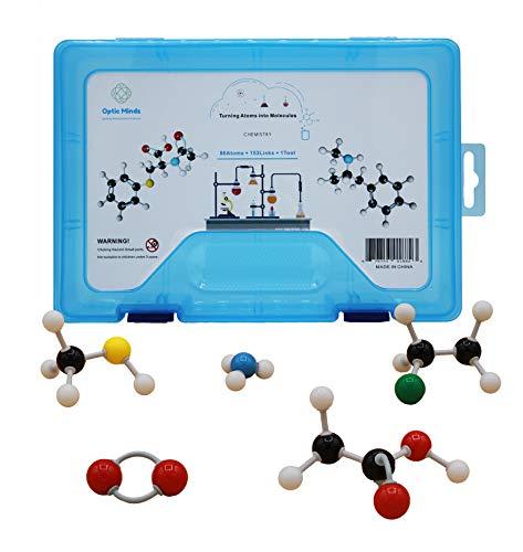 Optic Minds 239 piece - Organic Chemistry Model Kit - Molecular Model Kit - for Teachers and Students - Ball and Stick Model Organic Chemistry