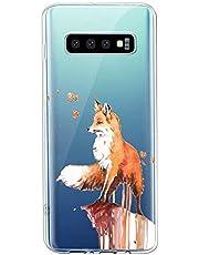 Oihxse Compatible con Samsung Galaxy J7 MAX Funda Suave Gel TPU Silicona Cristal Transparente Carcasa Acuarela Animal Pintado Patrón Protectora Estuche Bumper Caso Case (B2)