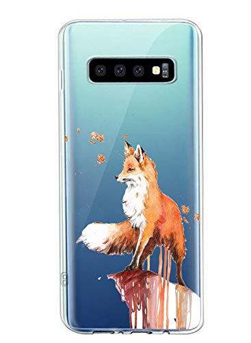 Oihxse Compatible con Samsung Galaxy J7 2017/J730/J7 Pro Funda Suave Gel TPU Silicona Cristal Transparente Carcasa Acuarela Animal Pintado Patrón Protectora Estuche Bumper Caso Case (B2)