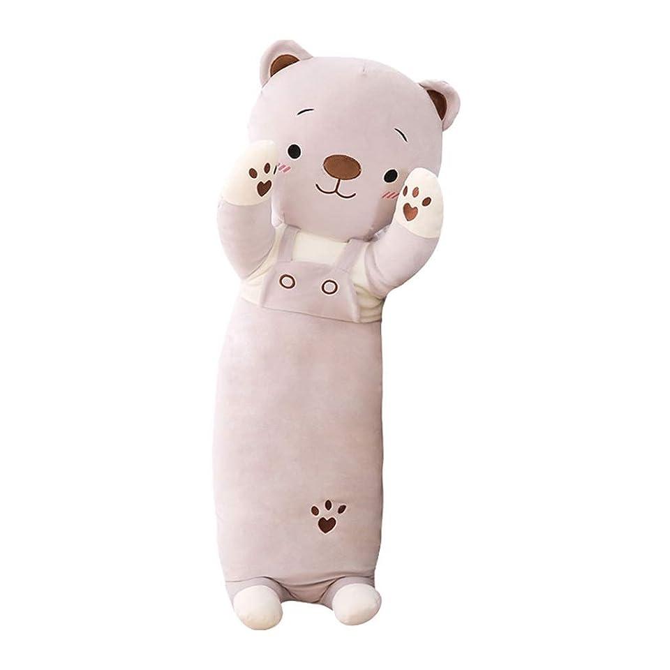 平方オリエント名目上のぬいぐるみ枕かわいい寝人形女の子用ベッド人形ロングバー 枕?抱き枕 (Color : Gray, Size : 70cm)