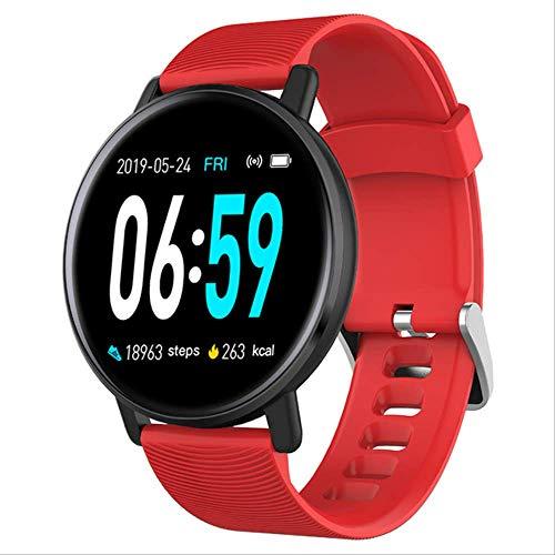 H5 Smart Watch Männer Uhr Frauen Blutdruck wasserdichte Fitnessuhr Herzfrequenzmesser Sport Smartwatch Für Android Ios Phone rot