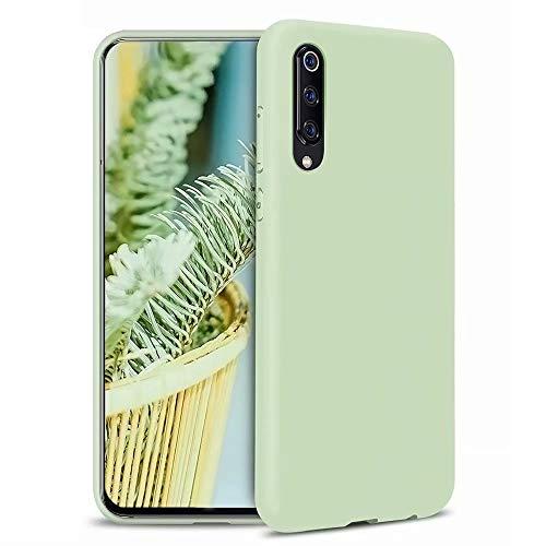MUTOUREN Xiaomi Mi 9 SE Funda Silicona Líquido Delgado TPU Gel Goma Cover Case Full Protección Anti-Caída Flexible Carcasa Compatible con Xiaomi Mi 9 SE - Verde