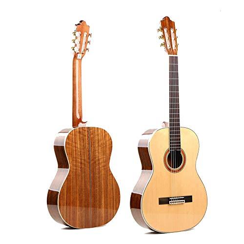 North King - Guitarra acústica clásica Hecha a Mano con Abeto clásico de Madera de Nogal para Adultos