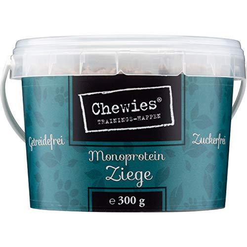 Chewies Trainingshappen Ziege - Monoprotein Snack - getreidefrei & zuckerfrei - Softe Leckerlies fürs Hundetraining - hypoallergen, 300 g