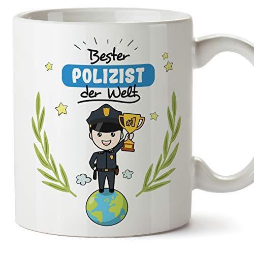 Polizist Tasse/Becher/Mug Geschenk Schöne and lustige kaffetasse - Bester Polizist der Welt - Keramik 350 ml