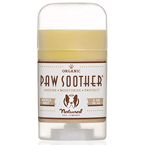 Natural Dog Company Paw Soother, Heals Dry, Cracked, Irritated Dog Paw Pads, Organic, All Natural Ingredients, 2oz Stick, 1 Count, Packaging May Vary