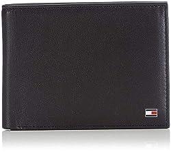 Tommy Hilfiger Herren ETON CC AND COIN POCKET Geldbörsen, Schwarz (Black 002), 14x10x2 cm