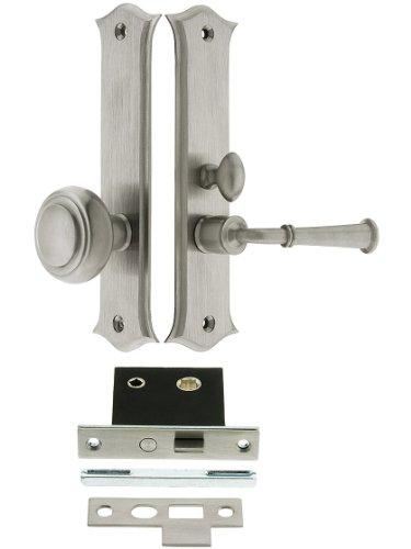 Deltana SDL688U15 Amsterdam Screen Door Mortise Lock Set with 1 1/2' Backset in Satin Nickel