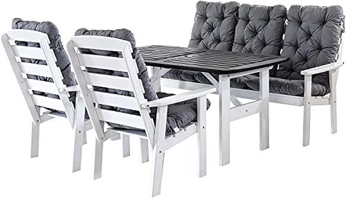Freenfitmall - Cuscino per sdraio, per chaise longue, per sedie a sdraio, cuscino per sedie da giardino, per interni, divano, tatami, sedile auto, 2 pezzi, colore: bianco