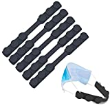 Mask Strap Extender Adjustable Ear Saver for Masks, PULIVIA Anti-Tightening Mask Holder Hook Silicone Ear Strap Relieve Pressure & Pain from Wearing Mask for Men Women Kids, 5PCS, Black
