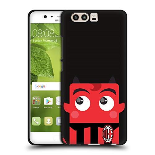 Head Case Designs Ufficiale AC Milan Mascotte Arte Cover Nera in Morbido Gel Compatibile con Huawei P10