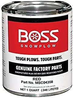 Boss Part # MSC04358 - PAINT,RED,LIQUID,QUART