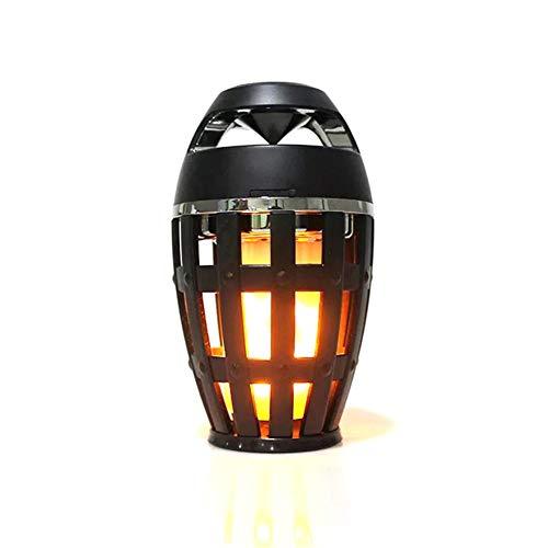 DIDIOI Mini-Lautsprecher, LED-Flamme-Licht Mini drahtlose Bluetooth-Lautsprecher, im Freien Wasserdichten beweglichen Bluetooth Subwoofer Geschenk, geeignet für Innen-und Außenamt
