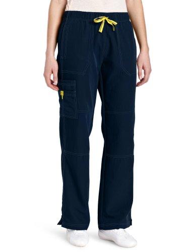 WonderWink womens Four-Stretch Sporty Cargo Pant, Navy, Large
