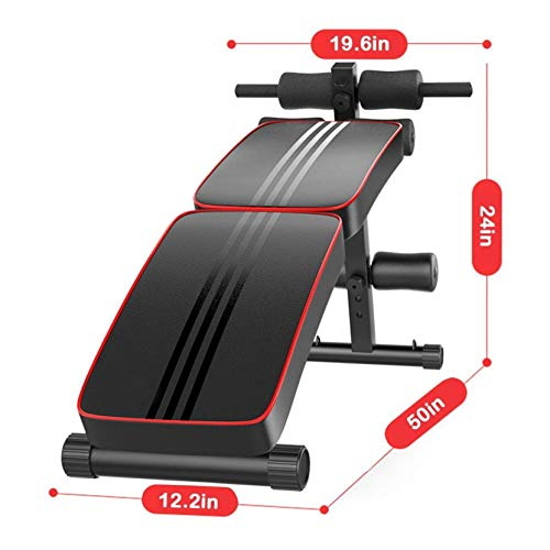ANACARE Foldable Bench, Adjustable Sports Weight Strength Training Bench Foldable Decline Fitness Equipment Sit-ups Bench ABK Sit up Crunch Board Home Gym Exercise [U.S. Shipping]