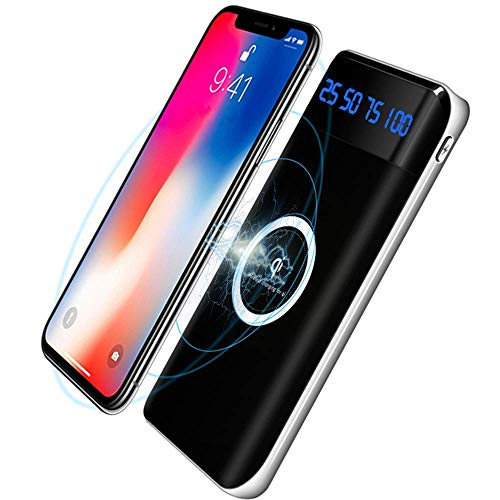 Wireless Charger Power Bank,KAPPET 20000mAh External Battery Charger Pack Portable Charger Battery Pack Portable Charger for iPhone Xs,iPhone XR,iPhone X,iPhone 8, Galaxy S8 S9 S7 Note 8/9