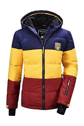 Killtec Jungen Fiames BYS Ski Quilted Jckt C Jacke In Daunenoptik Mit Kapuze Und Schneefang, dunkelnavy, 164