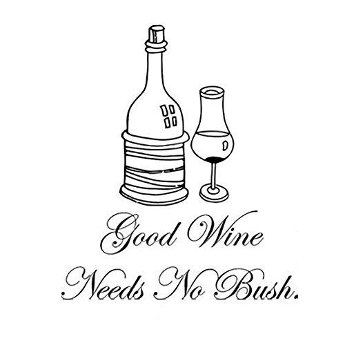 Drawihi 1 pcs Stickers Muraux Good Wine Salon Chambre Vert étanche Autocollant Mural Décoratif