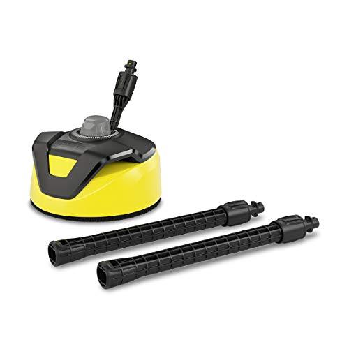 Kärcher Flächenreiniger T-Racer T 5 (Spritzwasserschutz, für große Flächen, zwei Flachstrahldüsen, Handgriff für senkrechtes arbeiten)