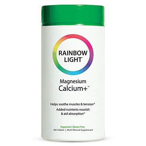 Rainbow Light Magnesium Calcium + Food Based Tablets 180 tablets