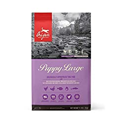 Biologically Appropriate Puppy Food. Featuring free run chicken & turkey, wild caught fish and nest laid eggs Loaded with the richly-nourishing proteins and fats that all puppies require for peak health On the first day, mix 25% of ORIJEN food with 7...