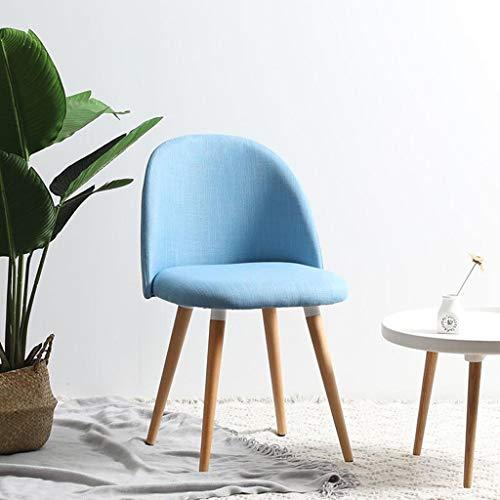 CJH Kaffeehaus-Stuhl, der Stühle speist Moderne amerikanische Restaurant-Haushaltsstühle (Color : Blue)