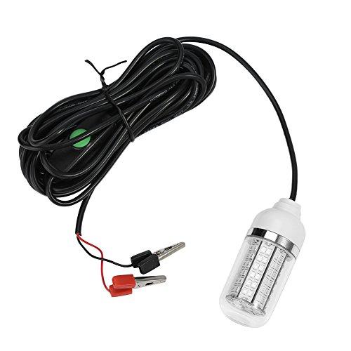 Lampada subacquea di pesca della lampada a LED con il cavo 5m 12V 15W 36/108 LED branelli ( Style : 108LED Beads )