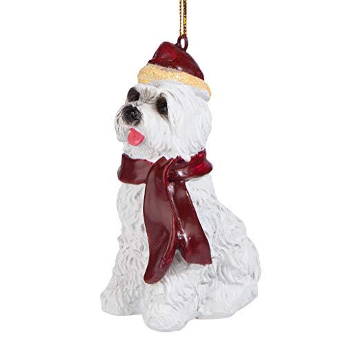 Christmas Ornaments - Xmas Maltese Holiday Dog Ornaments - Christmas Decorations