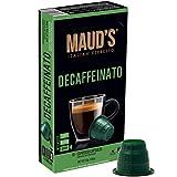Maud's Decaffeinato Espresso Capsules 50ct., 100% Hand-Crafted Arabica Decaf Coffee Italian Decaffeinated Espresso Capsules, Single Serve Decaf Dark Roast Coffee Espresso Pods, Nespresso Original Machine Compatible