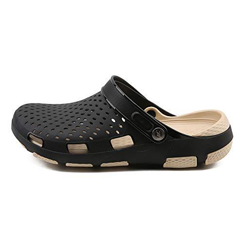 BSTLY Agujero Zapatos Hombre Verano Moda Deslizamiento Plano