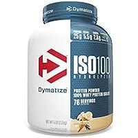 5-Pound Dymatize ISO 100 Hydrolyzed Whey Protein Isolate Powder (Gourmet Vanilla)