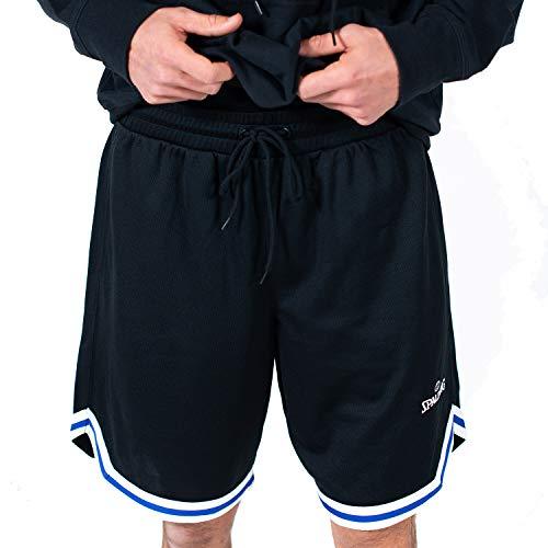 Spalding Men's Birdseye Mesh Basketball Short, Black, S