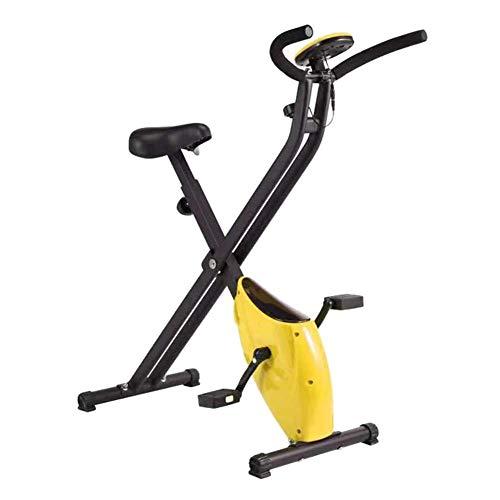 WGFGXQ Bicicleta estática Plegable, Manillar de Bicicleta estática para Ciclismo en Interiores y Bicicleta de Ejercicios giratoria con Asiento cómodo con Monitor LCD para Gimnasio en casa para? Ent
