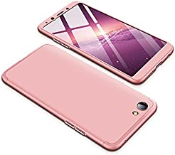 Case OPPO F7 Youth 360 Degrees protective Cover + tempered glass film High quality, 3 in1 Full Body protection Bumper hard phone Case Ultra-thin Skin Case,for OPPO F7 Youth (Rose gold)