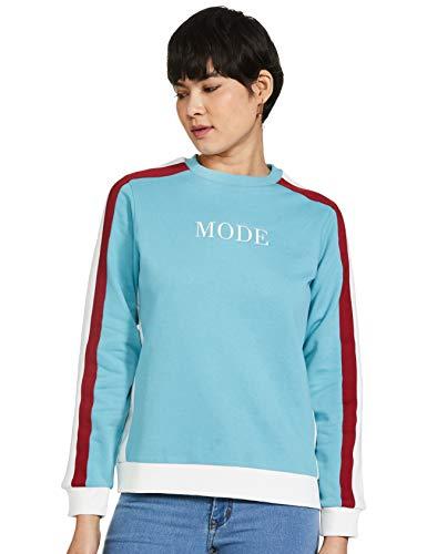 Mode By Red Tape Women Blue Sweatshirt, Bright Blue, l