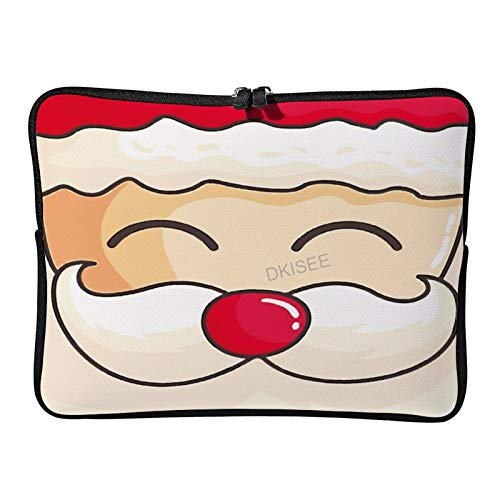 Lplpol Merry Christmas Laptop Sleeve for Women Men, Compatible with 12 Inch MacBook Air/MacBook Pro Notebook Two-way Zippers Laptop Carrying Bag Case Cover