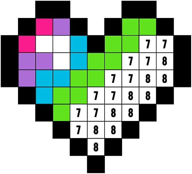 颜色由数字免费着色应用像素艺术书籍由有趣的游戏免费