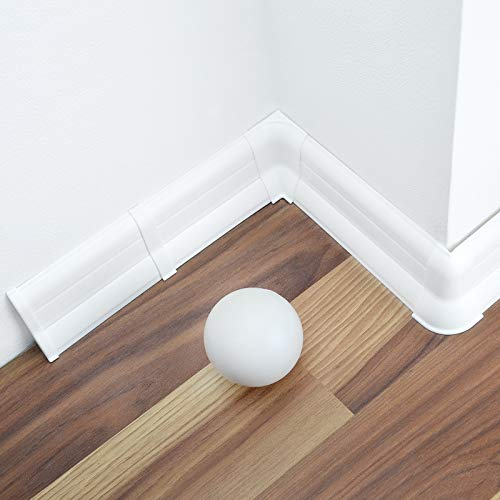 [DQ-PP] 10 Meter Sockelleisten 62mm PVC Weiß Laminatleisten Fussleisten aus Kunststoff PVC Laminat Dekore Fußleisten