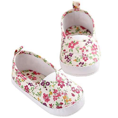 QINJLI Baby schoenen, Zomer 0-1 jaar oude vrouwelijke schat peuter schoenen Bloemen gebroken naaigaren Antislip zachte bodem Licht en ademend 11-13cm 13cm
