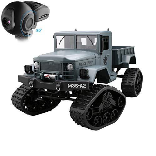 LILIJIA Camión de simulación de 2.4GHz, Auto de Escalada con orugas con cámara Web de navegación, Auto Modelo Todoterreno con Control Remoto, Juguete para niños y Adultos,A