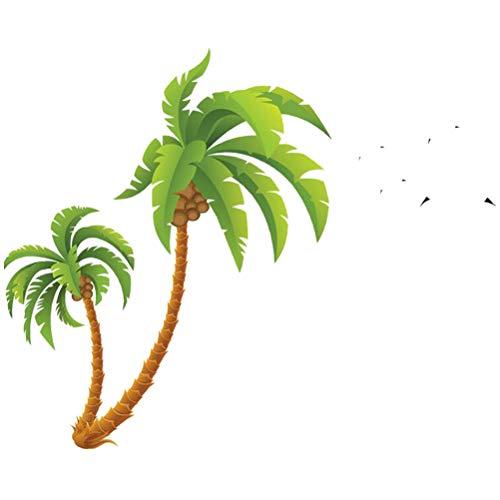 Vosarea Strand-Palmen-Kokosnuss-Baum-großer Wand-Aufkleber für Kinderzimmer-Schlafzimmer-Kunst-Wandgemälde