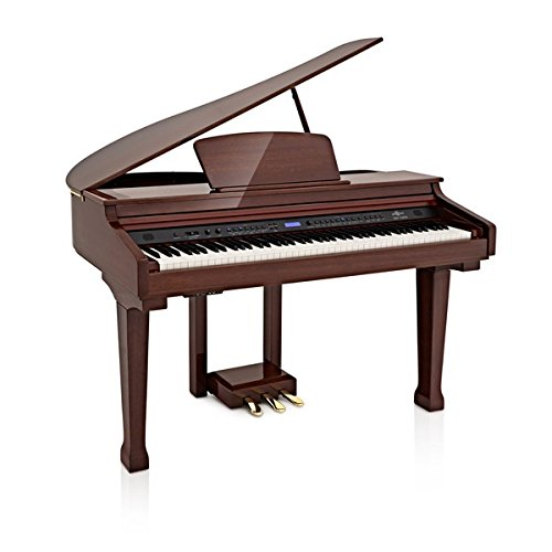 Piano de Cola GDP-100 de Gear4music - Caoba Pulida